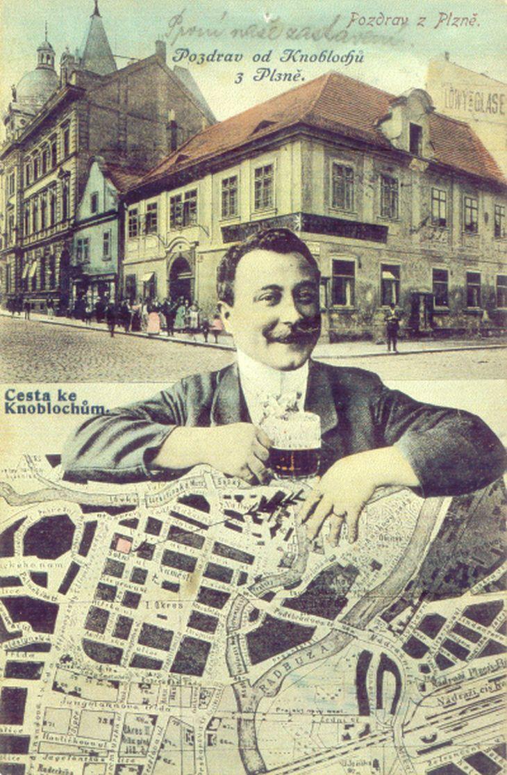 Knoblochův hostinec na rohu Solní a Sedláčkovy ulice
