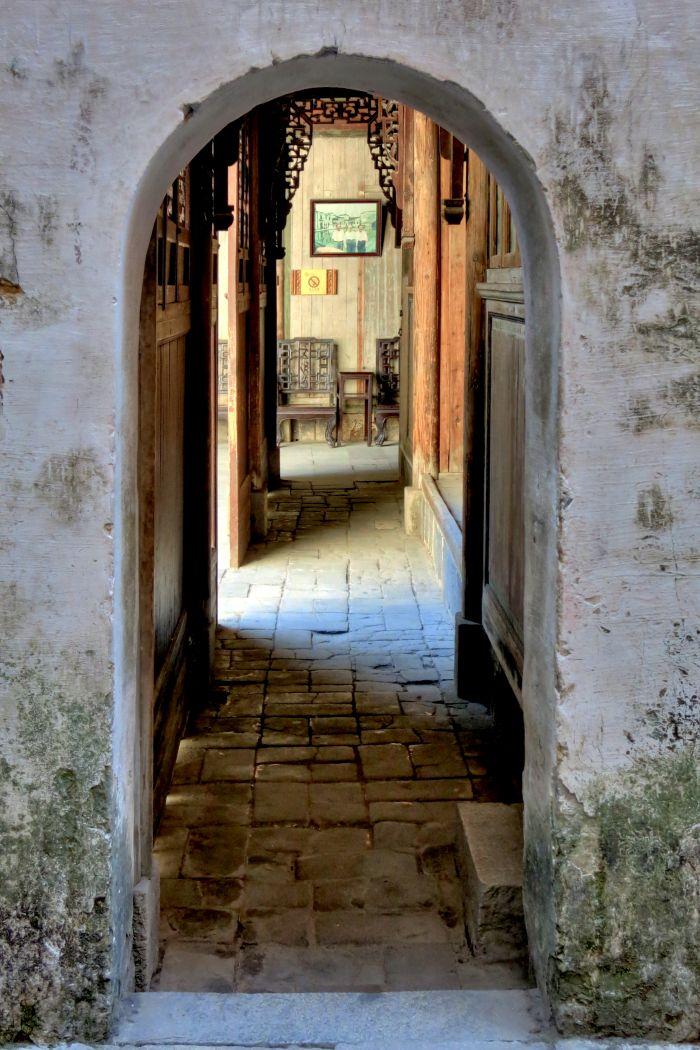 Interiér rezidence ve vesnici Hongcun