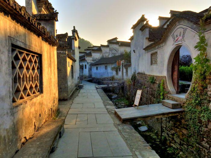 Ulička vesnice Xidy