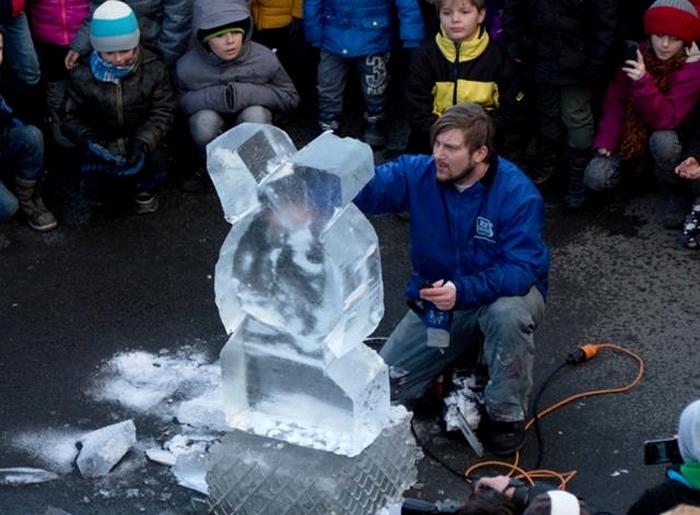 Ledové dny v Plzni v minulém roce