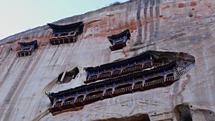 Součást chrámu Třiceti tři nebeských jeskyní