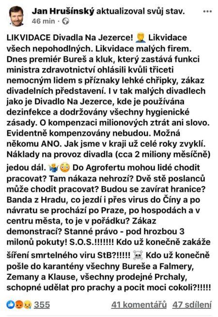 Hrušínský 10. 3. 2020