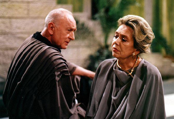 S Jiřinou Jiráskovou ve svém posledním filmu Kadeř královny Bereniké
