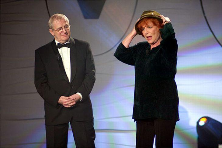 S Jiřím Suchým v roce 2005 v televizním pořadu Pocta V+W