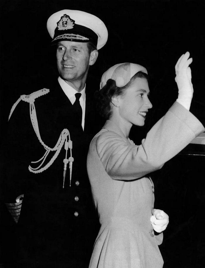 Alžběta a Philip v roce 1947