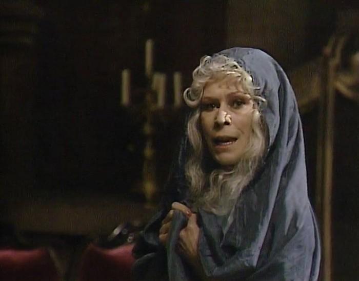Sudička v televizní pohádce z roku 1985 O Rozárce a zakletém králi, natočené na námět pohádky Františka Hrubína