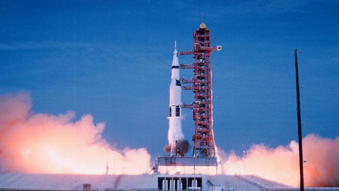 Start Apolla 11 z mysu Canaveral