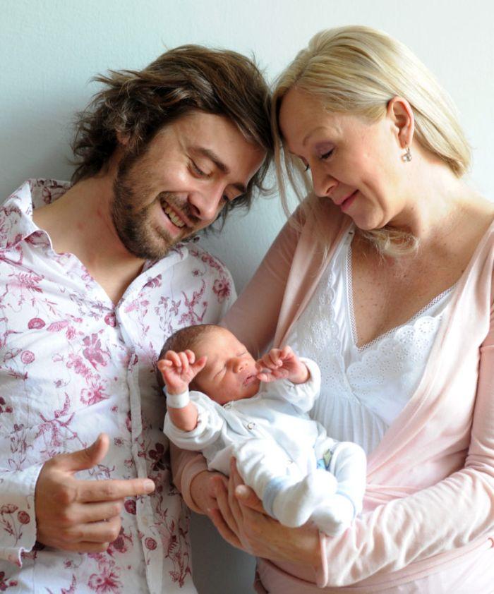 S třetím manželem Petrem Polákem a novorozeným synem Theodorem