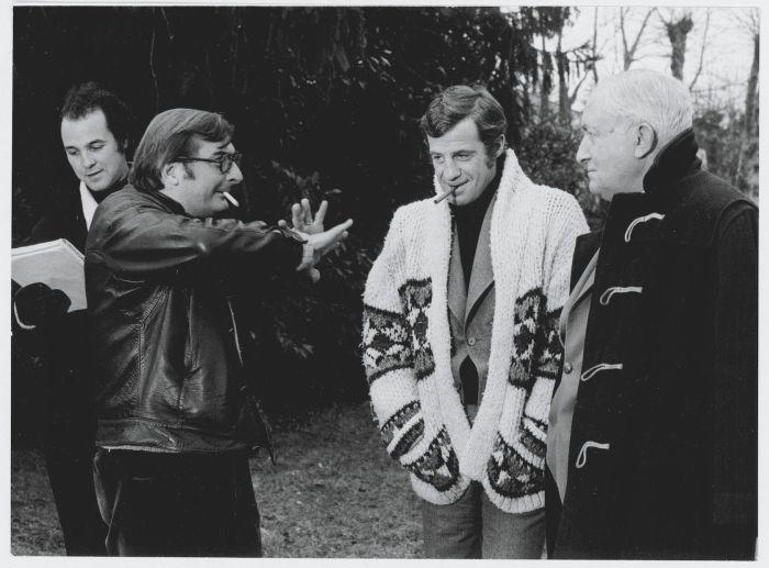 V roce 1972 s režisérem Claudem Chabrolem při natáčení komedie Doktor Popaul