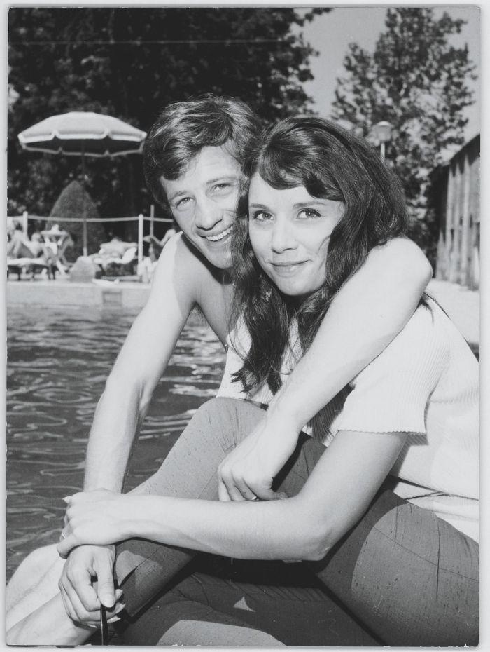Se svou ženou snů Élodie v Saint Tropez v roce 1961