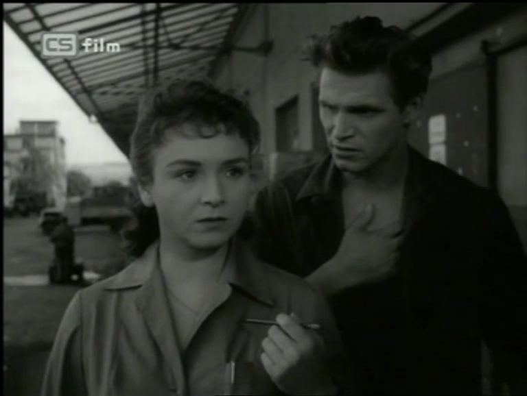 Jeřábník Toník a Tonka (Jana Dítětová) v dramatu Václava Kršky z roku 1958 Cesta zpátky