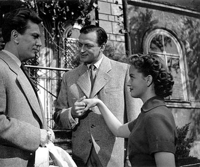 S Martinem Růžkem (uprostřed) a Robertem Vrchotou v kriminálce Zlatý pavouk