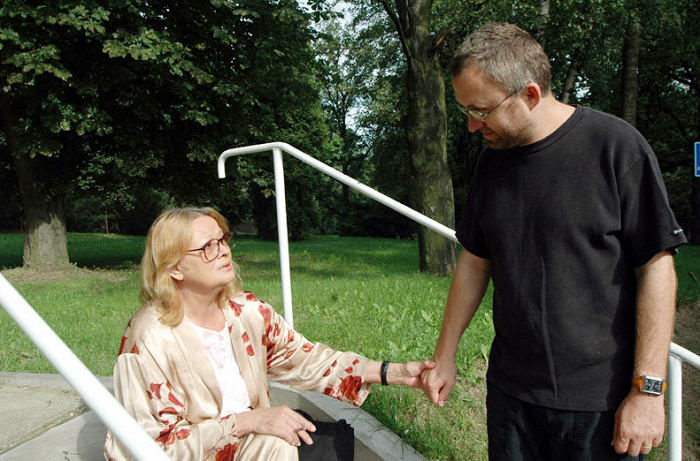 S režisérem Janem Hřebejkem při natáčení svého posledního filmu Kráska v nesnázích