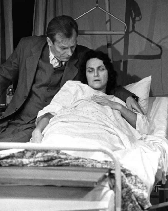 S Aloisem Švehlíkem ve hře Návštěvní doba – Divadlo Kolowrat 1991