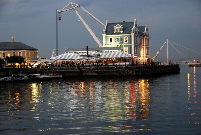 Typická architektura přístavu Kapského města