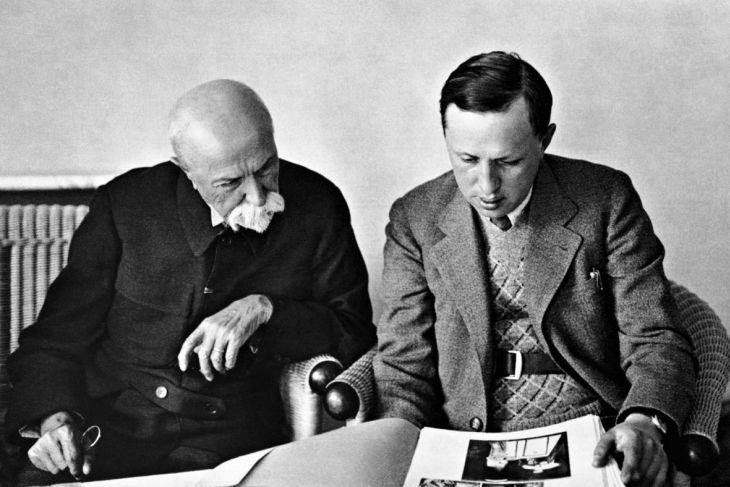 Karel Čapek s prezidentem T. G. Masarykem