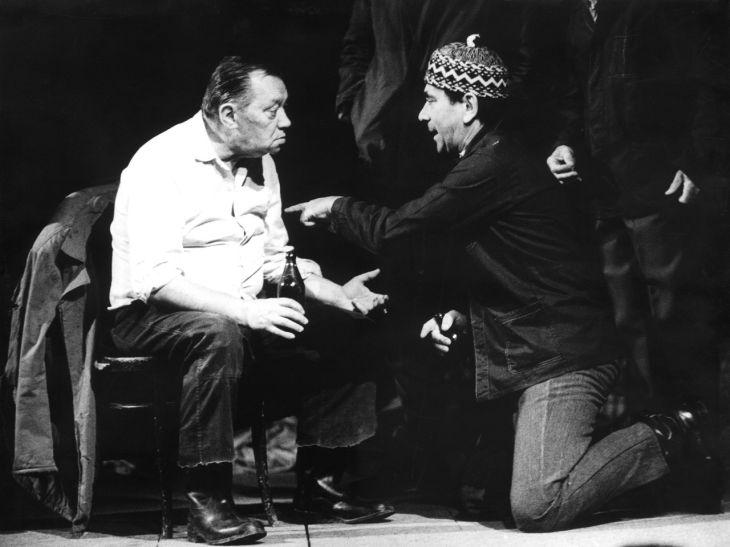S Rudolfem Hrušínským v Činoherním klubu, ve hře Bohumila Hrabala Obsluhoval jsem anglického krále