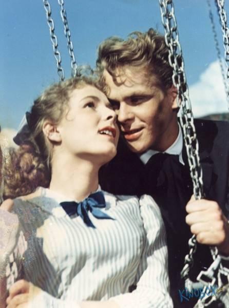 S Janou Rybářovou v roce 1954 v legendární filmové romanci Stříbrný vítr