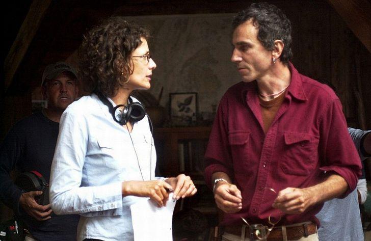 S manželkou Rebeccou v roce 2005 při natáčení dramatu Ostrov samoty