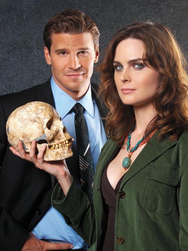 S Davidem Boreanazem v úspěšném seriálu Sběratelé kostí