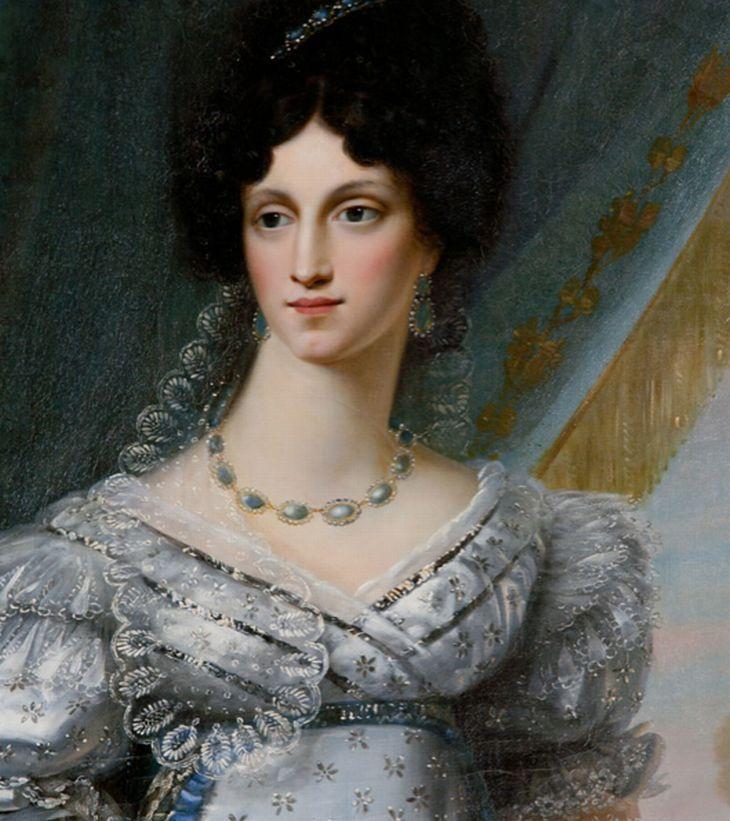 Dorothea von Biron, poslední princezna kuronská, na portrétu francouzského malíře Josepha Chaborda...