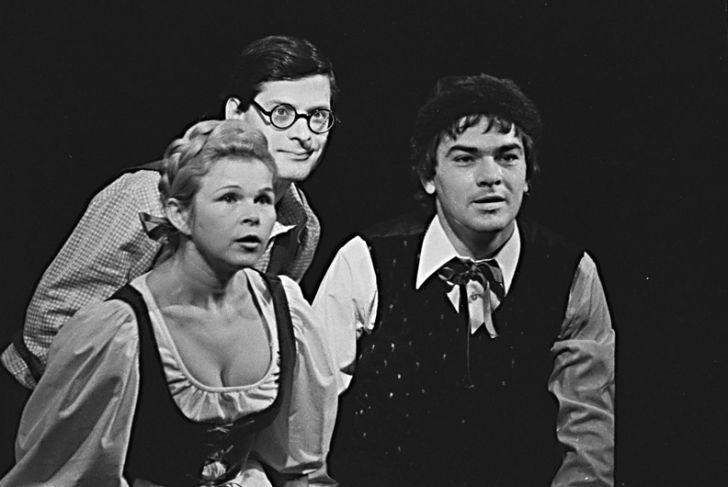 S Ivankou Devátou a Janem Hartlem v toce 1978 v pražském Realistickém divadle, v představení Úplně normální zázrak