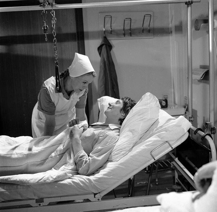 S Ivou Janžurovou v seriálu Nemocnice na kraji města