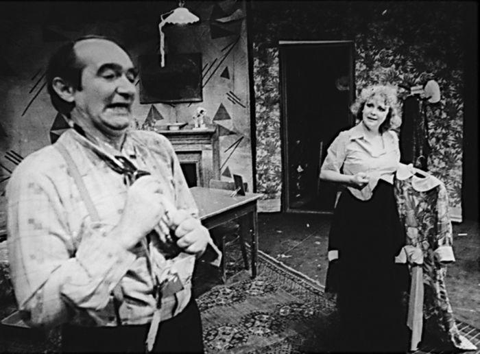 V divadle Rokoko v roce 1991, v představení Zrození pohromy (z ducha všedního dne)