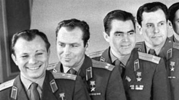 První sovětská čtyřka - Jurij Gagarin, German Titov, Andrian Nikolajev a Pavel Popovič