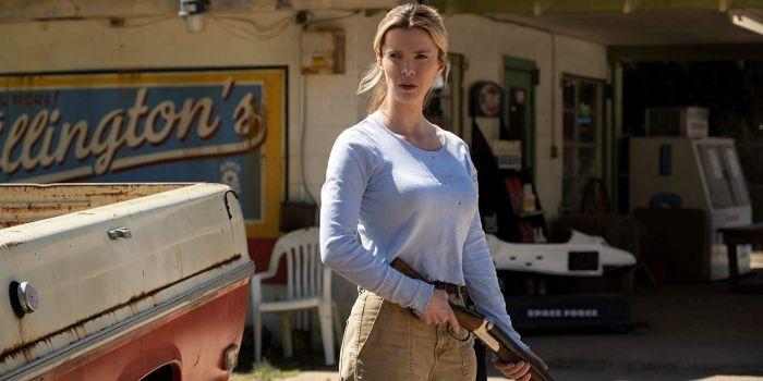 Betty Gilpin v akčním thrilleru Lov (The Hunt)