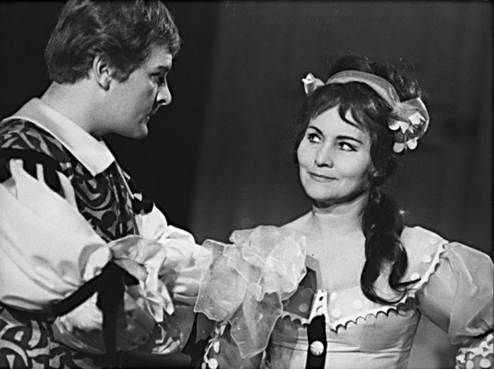 S Vladimírem Brabcem v pražském Tylově divadle, ve slavné Moliérově komedii Tartuffe