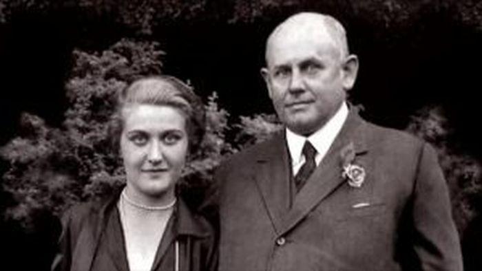 S prvním manželem, průmyslníkem Güntherem Quandtem