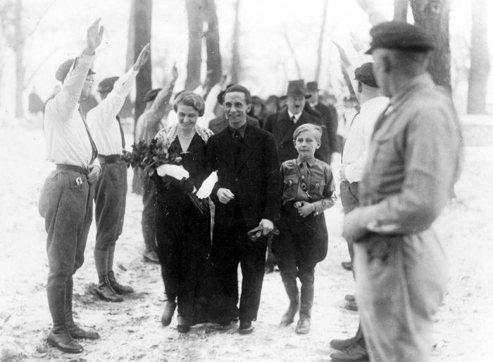 Svatba s Hitlerovým ministrem propagandy Josephem Goebbelsem
