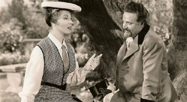 Se slavnou Greer Garson ve svém údajně posledním filmu Paní Parkingtonová