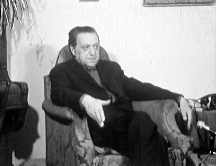 Krátce před smrtí v televizním dokumentu Na návštěvě u Hugo Haase