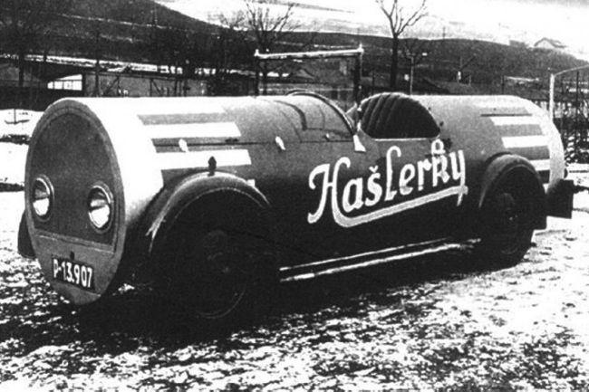 Reklamní auto na Hašlerky