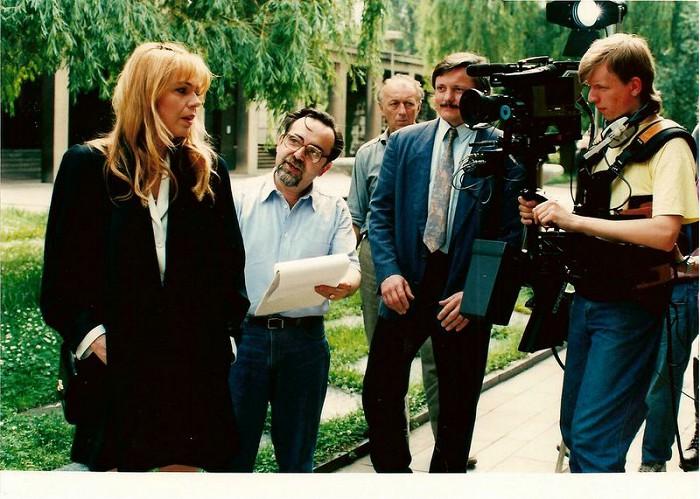 S Dagmar Havlovou v roce 1995 během natáčení seriálu Hříchy pro diváky detektivek
