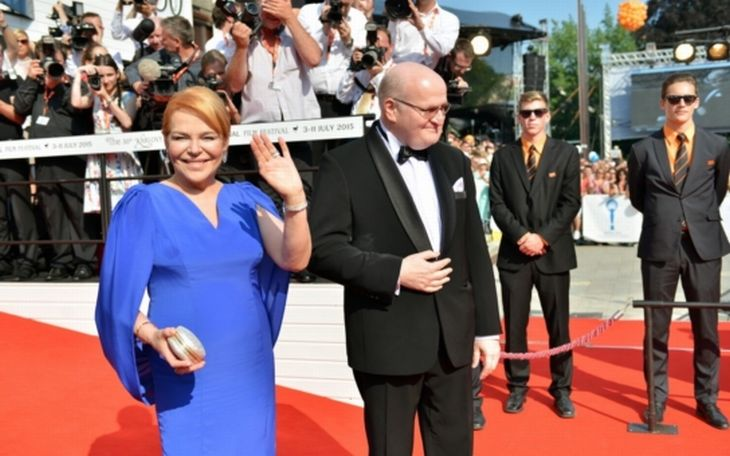 Ministr kultury Daniel Herman a Dagmar Havlová na filmovém festivalu