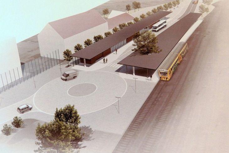 Vizualizace nového dopravního terminálu