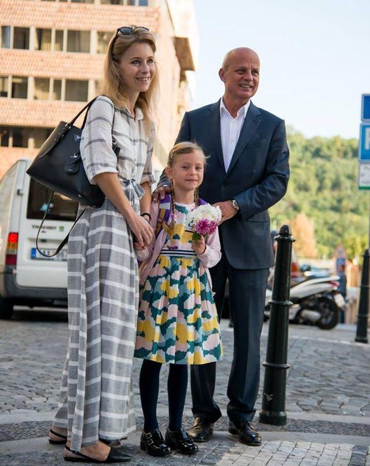 Rodinné foto s manželem a dcerou