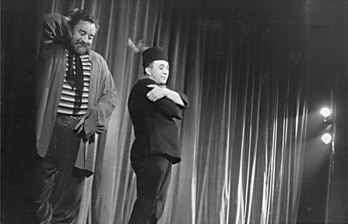 V Baladě z hadrů s Janem Werichem, v roce 1957 v Divadle ABC