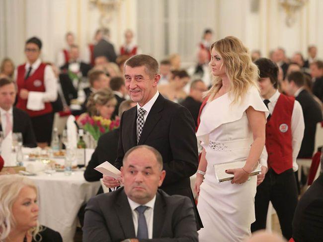 Ministr financí Andrej Babiš s partnerkou Monikou