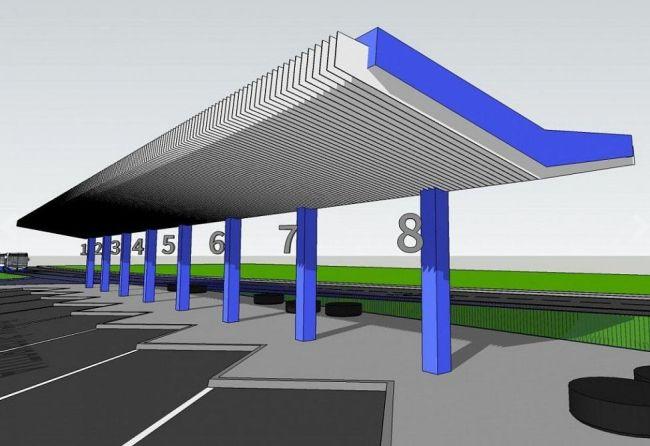 Autobusové nádraží v Humpolci - vizualizace
