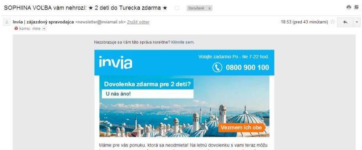 Invia - reklama