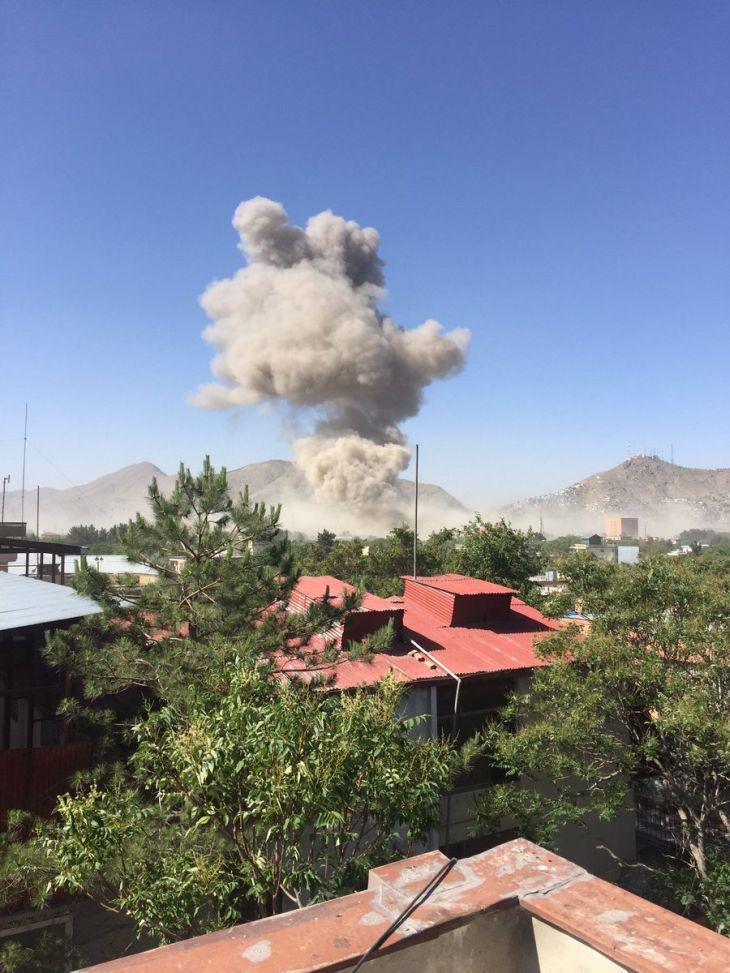 Výbuch v diplomatické čtvrti Kábulu