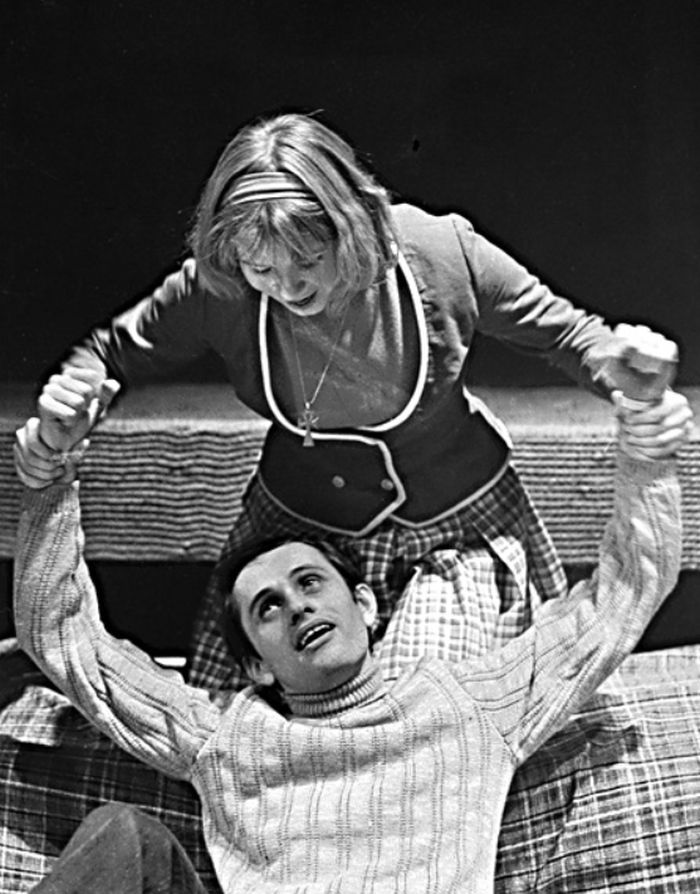S Lenkou Chasákovou v roce 1973 v představení karlovarského divadla Valentin a Valentina