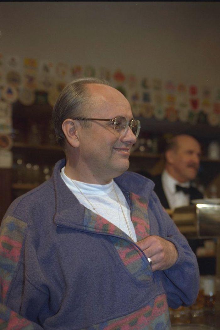 Tělocvikář Břetislav Jonáš v seriálu Hospoda