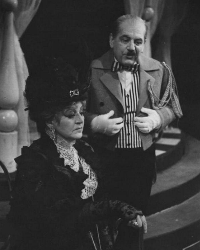 S manželkou Zdeňkou Poláčkovou v operetě Emmericha Kálmána Hraběnka Marica – Národní divadlo moravskoslezské 1965