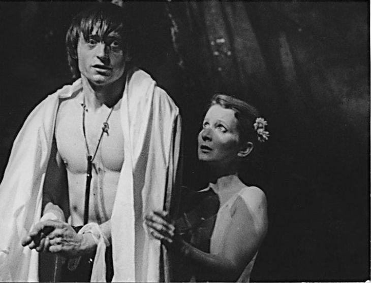 S Martinem Stropnickým v roce 1987 v Divadle na Vinohradech v představení Krysař