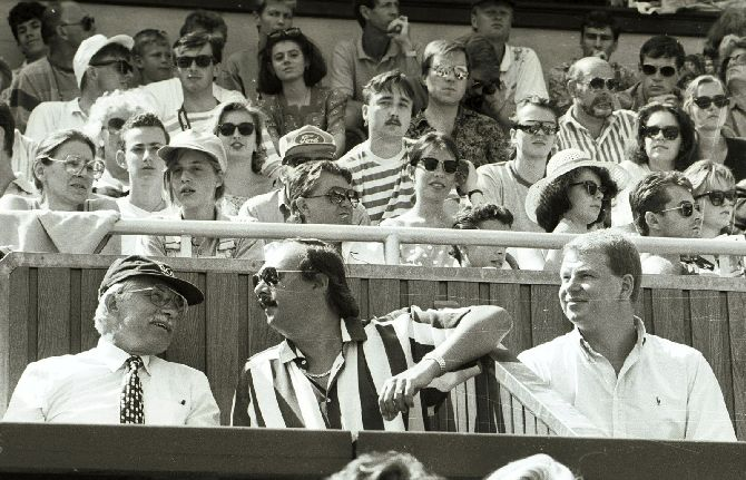 S Václavem Klausem a Viktorem Koženým na tenisu